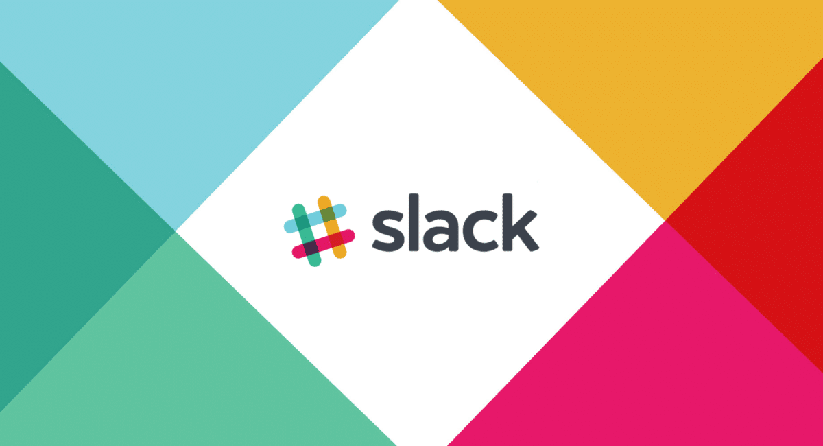 the Slack software logo with a coloured background matching their branding